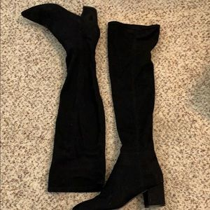 Steve Madden over the knee black boots (suede)